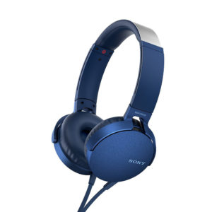 Sony MDR-XB550AP Extra Bass Wired Headphones (Blue)