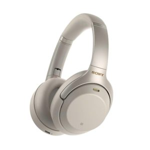 Sony WH-1000XM3 Wireless Active Noise Cancelling Bluetooth Headphones with Mic (Silver)