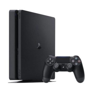 SONY PS4 1TB SLIM PlayStation [Jet Black, Additional Dual shock Controller]