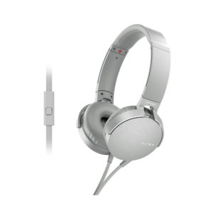 Sony MDR-XB550AP Extra Bass Wired Headphones (White)