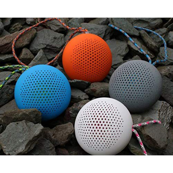 Boompods Rokpod Wireless/Bluetooth Portable Speaker | Shock Proof | IPX7 Water Proof Speaker (Blue)