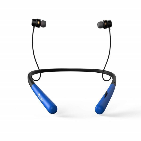 Molife Boomerang Wireless Sports Neckband Bluetooth in-Ear Earphones with Mic (Blue)