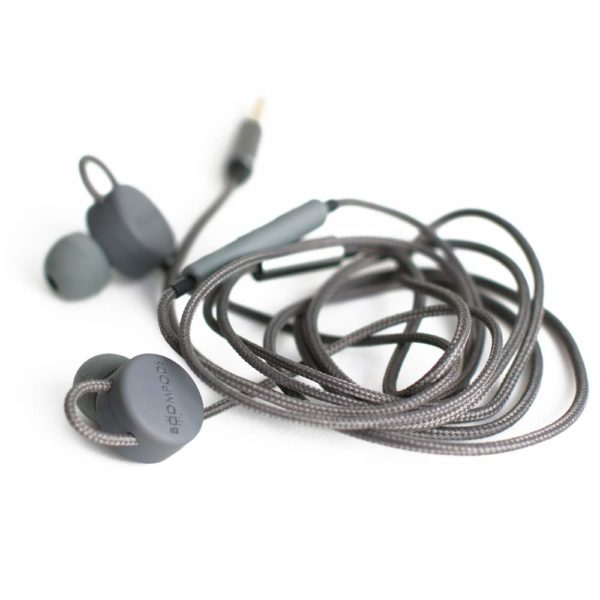 Boompods Retrobuds Wired in-Ear 3.5 Jack Headphones with Remote Control (Black)
