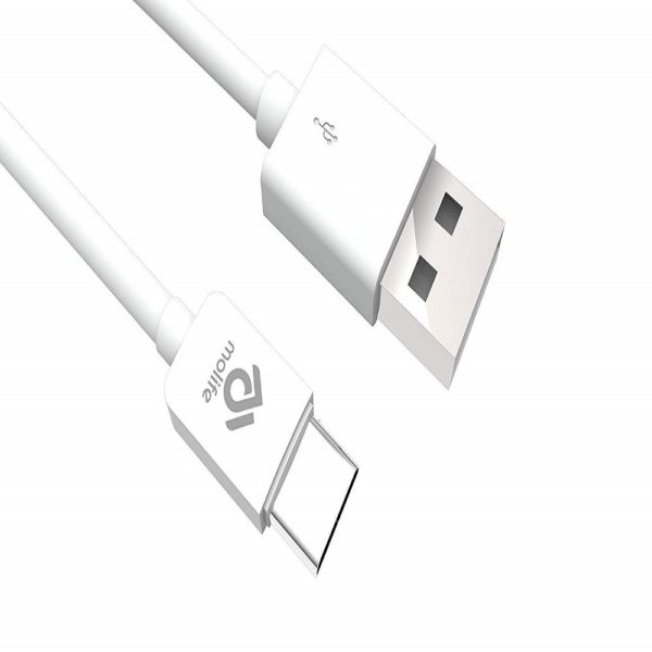 Molife Blitz Lite Micro USB Charging Cable - 4 Feet (1.2 Meter) - (White)