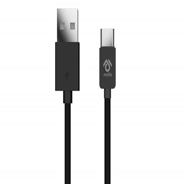 Molife Blitz Lite Micro USB Charging Cable - 4 Feet (1.2 Meter) - (Black)