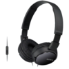 Sony MDR-ZX110AP Wired Headphones with Mic (Black)