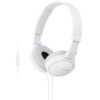 Sony MDR-ZX110AP Wired Headphones with Mic (White)