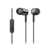 Sony MDR-EX155AP In-ear Wired Headset with Mic (Black)