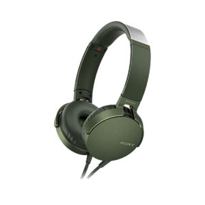Sony MDR-XB550AP Extra Bass Wired Headphones (Green)