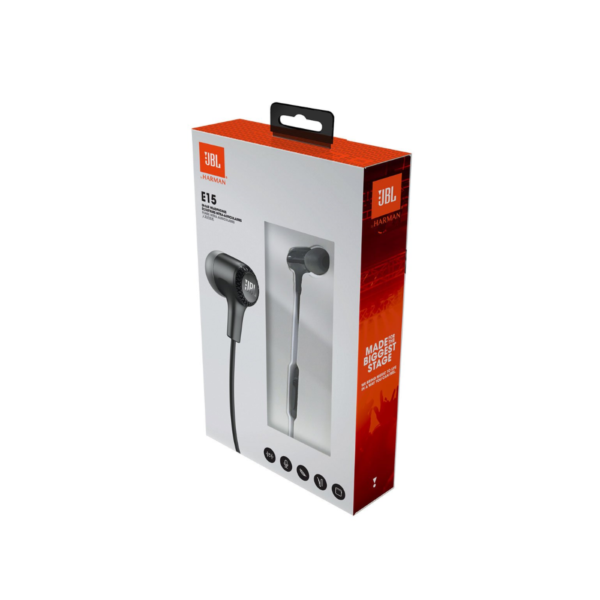 JBL E15 Wired Headset with mic (Black)