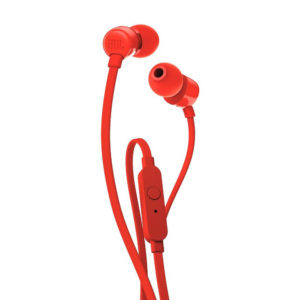 JBL T110 Wired Headset with mic (Red)