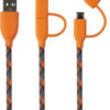 Boompods Duo C 2-in-1 Sync and Charge Cables with USB-C and Micro USB Connectors - Orange