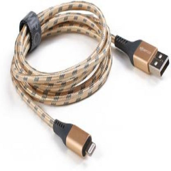 Boompods Retro Armour 1.5 m Lightning Cable - Gold