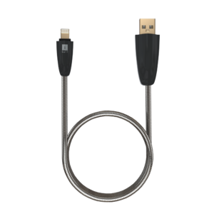 iBall Gun Metal USB Data Cable for iPhone iC-IGM04