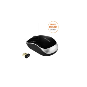 Amkette Element Compact Wireless USB Mouse (Silver)