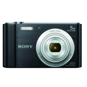 Sony CyberShot DSC – W800 With 20.1 MP and 5X Optical Zoom (Black)