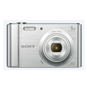 Sony CyberShot DSC – W800 With 20.1 MP and 5X Optical Zoom (Silver)