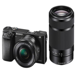 Sony Alpha ILCE-6000Y With 24.3MP / FULL HD / WI-FI / NFC / 16-50MM & 55-210MM LENS Mirrorless Camera (Black)