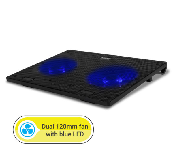Zebronics ZEB-NC3300 Fan Cooling Pad (Black)