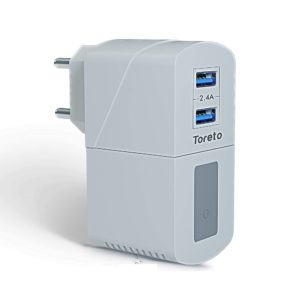 Toreto Remix-Duo TOR 513 (White, 2 in 1 Travel Charger with Wireless Speaker)