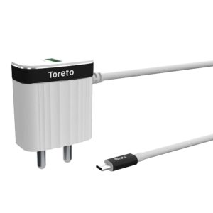 Toreto Charge M TOR-510 (Travel Charger with Micro Cable, White)