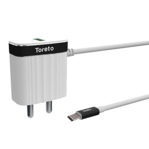 Toreto Charge C TOR-510 (Type-C Travel Charger, White)