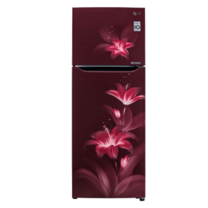 LG Frost Free Refrigerator 2 Star 284 Litres Convertible PLUS Fridge with Smart Inverter Compressor ( GL-T302SRGY , Ruby Glow , Convertible )