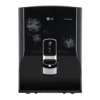 LG Puricare UV Water Purifier RO Multi-Stage Filtration Dual Protection Stainless Steel Tank ( WW150NP , Black with Floral Pattern)