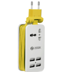Zoook 4-in-1 USB Charger (ZK-ZF-PPS1 ,Yellow)