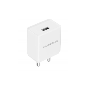 Ambrane AWC-47 Mobile Charger with Detachable Cable (White)