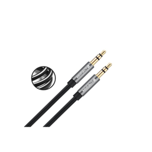 UltraProLink Stereo Audio AUX Cable 3.5MM With Gold Plated Connectors 5FT (1.5M) (UL107BLK-0150, BLACK)
