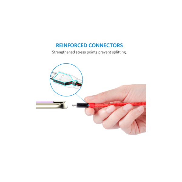Anker PowerLine+ 1Meter (3ft) Micro USB Cable (Red)