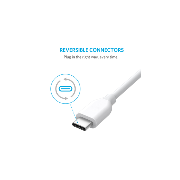 Anker PowerLine (3ft) USB-C to USB 3.0 Cable (White)