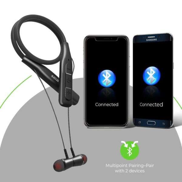 ULTRAPROLINK MORPH 2 WIRELESS NECKBAND EARPHONE (UM0098, Black)