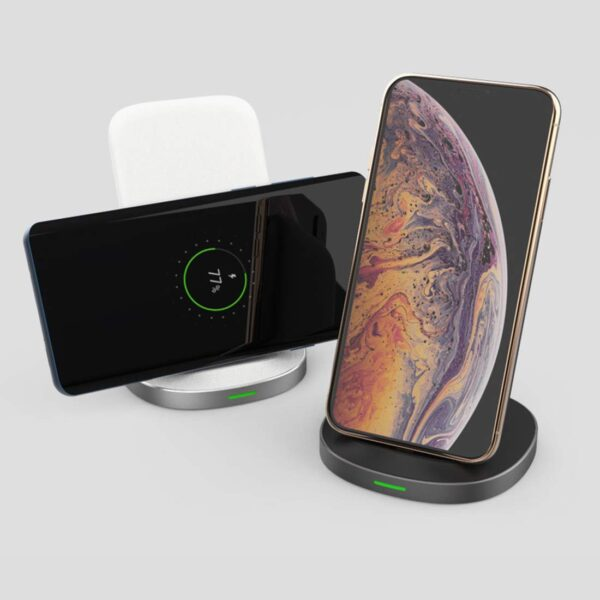Stuffcool Qi certified wireless charger 10W fast charging wireless charge (Black)