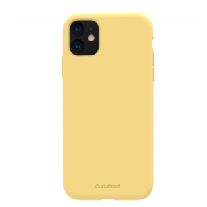 Stuffcool Silo Soft & Smooth Slimmest Back Case Cover for Apple iPhone 11 (Yellow)
