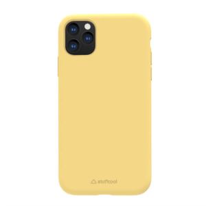 Stuffcool Slimmest Silo Soft & Smooth Case, Designed for Apple iPhone 11 Pro Case Cover 5.8″ Back Case (Yellow)