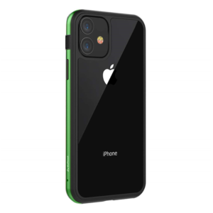 Stuff cool Frame Hard Clear, Designed for Apple iPhone 11 Case Cover 6.1″ Back Case(Green)