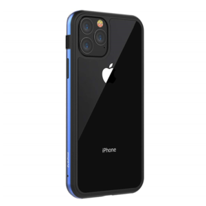 Stuffcool Frame Hard Clear Back Case Cover with Slim Metallic Bumper for Apple iPhone 11 Pro 5.8″ (Blue)