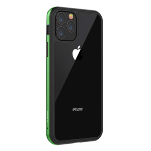 Stuffcool Frame Hard Clear Back Case Cover with Slim Metallic Bumper for Apple iPhone 11 Pro 5.8″ (Green)