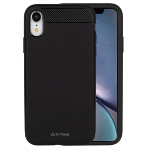 Stuff cool Soft Flexible TPU Armour Back Case Cover for Apple iPhone XR (Black)
