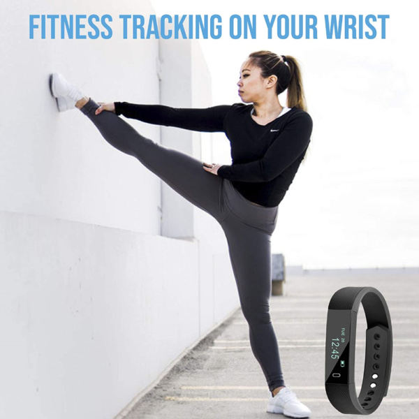Ambrane Smart Fitness Band with OLED Display (AFB-29, Black)