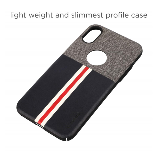 Stuffcool Eto Sport Stylish & Sporty PU Leather Back Case Cover for Apple iPhone X (Black)