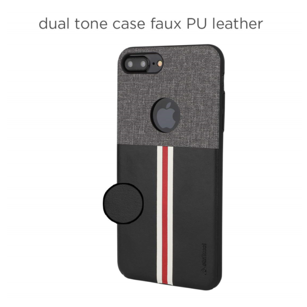 Stuffcool Eto Sport Stylish & Sporty PU Leather Back Case Cover for Apple iPhone 8 (Black)