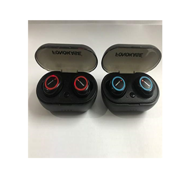 Fonokase Thump TWS Bluetooth Earbuds with Charging Case (Black/Blue)