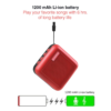 Stuffcool Theo Portable True Wireless Bluetooth Speaker with Mic (Red)