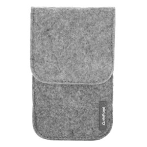 Stuffcool Felt Pouch (Wallet) for 5.5 inch Smartphone with Magnetic Button (Grey)