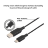 Stuffcool Force C 3Amp Type C to USB A 2.0 Sync and Charge Cable 1M (Black)