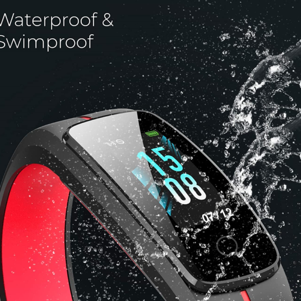 Play Play Fit 53 Smart Band, Full Touch Color Display (Red)