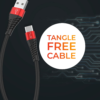 Play BC2 1.2m length, 3.1A current carrying capacity, fast charging, fire-proof, USB-A to Type-C connector with fast charging cable (Black + Red)